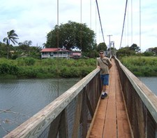 Hanapepe Art Night Historic Swinging Bridge Kauai