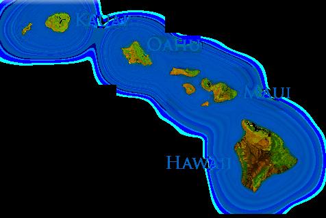 Resultado de imagen para hawaii islands png